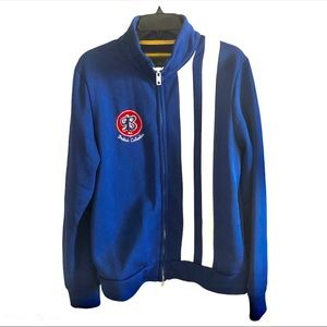 21 Men British Columbia B Team Jacket Blue Zipped
